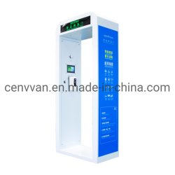 自動情報処理機能をもった温度の測定の公共の場のトンネルの消毒のゲート