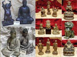 Polyresin Buda, el Dios de la India y el León