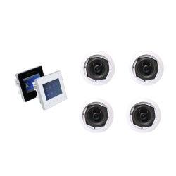 Sh1019スマートなホーム可聴周波パッケージ! 壁のアンプの4つのチャネルBluetoothは4部分を5インチの天井のスピーカーサポートする