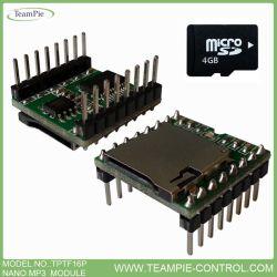 MCU contrôlable module MP3, Module MICRO MP3, Nano module MP3 (TPTF16P)