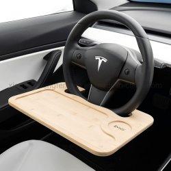 Vassoio sul volante - pranza comodamente in auto - laptop desk per auto per lavorare in remoto - si adatta alla maggior parte Vetture con modello Tesla incluso