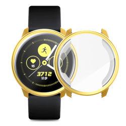 Cassa placcata coperchio impermeabile della cassa per orologi di copertura totale TPU per il Active di Samsung con la protezione dello schermo