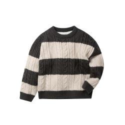 Витая трикотажные контраст Colorfor детей девочек/мальчиков трикотажные свитер Pullover Crewneck трикотажные перемычка