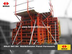 Zolo Gk120 Stahlrahmen mit Furnierholz-Gesichts-justierbarer Verschalung für Wand-Spalte-Aufbau
