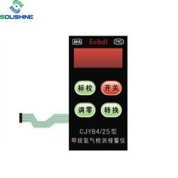 Alta qualidade personalizada de teclado de plástico resistente ao calor em relevo toque no interruptor de membrana para controlo remoto