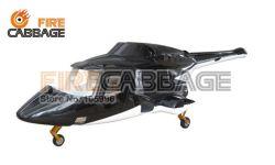 A fuselagem Airwolf 600 Pre-Painted para tamanho 600