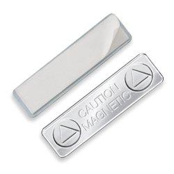 MagneTicks 스테인리스 스틸 자기 이름 태그 ID 배지 홀더 전면 플레이트에 3M 접착제 사용