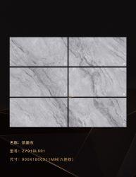 Pared de mármol artificial Revestimiento de pizarra Piedra de cuarzo costumizada para pared Panel (900 x 1800 mm)