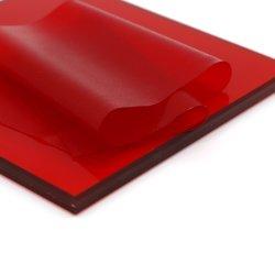 طبقة فيلمين حمراء مقاس 0,38 مم للزجاج المنقوع الهندسي