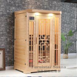 Новый сухой дома инфракрасной сауной для 2 человек с бамбуковой изображения