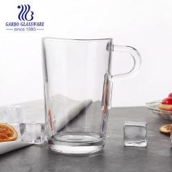 13.4унц поощрения торговли с возможностью горячей замены стекла кружка с ручкой стеклянный сосуд для пива, кофе, соки, чай(ГБ094213-5)
