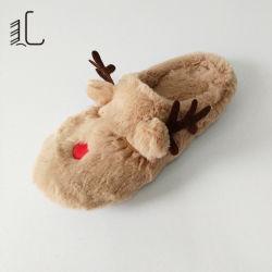 Schöne Weihnachten Hübsch Animial Indoor Weich Warm Plüsch Rentier Hausschuhe Als Geschenk