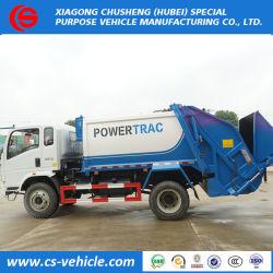 HOWO 4X2 10m3 Petit camion poubelle utilisé compacteur de déchets chariot