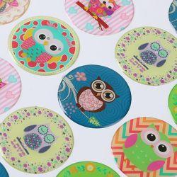 Resina de desenhos animados decorativos para a impressão de etiquetas autocolantes Dome Dom