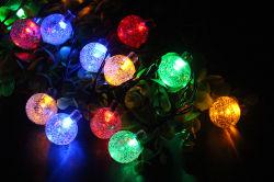 파티오/가든/파티/웨딩 장식을 위한 30 LED 솔라 크리스탈 볼 스트링 조명