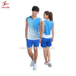 Healong спортивной одежды шестерни Сублимация Junior Дрсуга бадминтон футболки на заказ