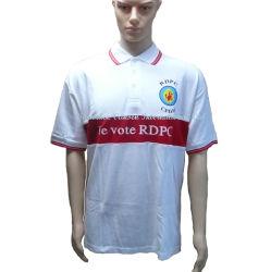 Poloshirt met Silk Print-logo en strepen op kraag en mouw