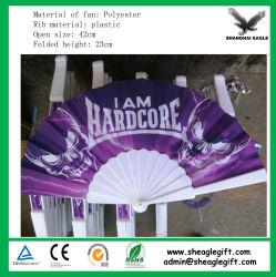 Impressão colorida de plástico dobrável do Ventilador Esquerdo como oferta promocional