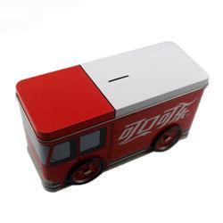 Contenitore a forma di di stagno del bus per il risparmio dei soldi