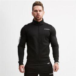 Hombre de manga larga Full-Zip Chándal Casual corriendo correr Deportes chaqueta y pantalones