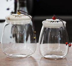 Tissus de verre du flacon de verre de gros pour le stockage