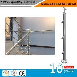 Extérieur/Intérieur de la main courante de verre en acier inoxydable avec balustrade/main courante pour Balcon/terrasse/escalier/escaliers