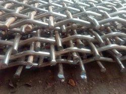 Tragen-Widerstehendes hohes Mangan-Stahl-Kurven-Bergbau-Draht-Bildschirm-Ineinander greifen quetschverband Maschendraht/gesponnenes Bildschirm-Ineinander greifen/das vibrierender Bildschirm-Ineinander greifen, das in vibrierenden Steinzerkleinerungsmaschinen verwendet wurde