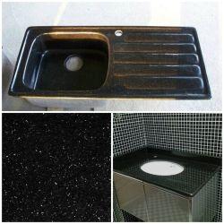 Basi d'appoggio all'ingrosso del granito della galassia del nero del blocchetto di macellaio del laminato/Kitchen/Quartz/Soapstone/Formica