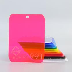 Rouge fluorescent feuille acrylique 991