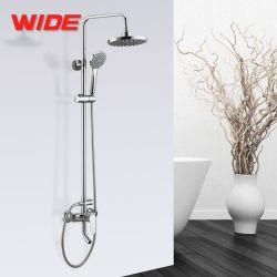 Chrome poli économique Spa salle de bain avec douche de pluie de la sécurité thermostatique set robinet pour salle de bains