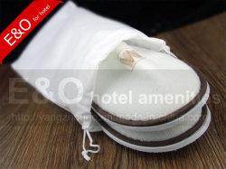 Preiswerter einfacher Drawstring-nichtgewebter Hotel-Hefterzufuhr-Schuh-Beutel