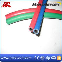 Tubo flessibile Red+Green della saldatura del gemello del tubo flessibile dell'ossigeno e dell'acetilene di iso 3821