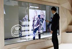 43дюйма интерактивный сенсорный Волшебное зеркало рекламы наружного зеркала заднего вида дисплея