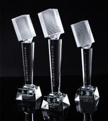 Microfone de cristal Troféu para a concorrência de música Loja