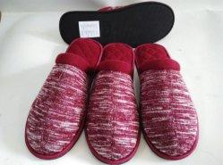 Bon marché intérieur de la laine à tricoter Indoor pantoufles pour hommes