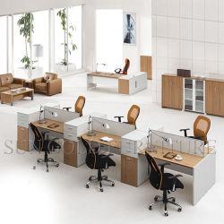 (SZ-WSL312) Il MDF di vendita caldo ha affrontato il divisorio del personale della stazione di lavoro dell'ufficio delle sedi dello scrittorio 6 della melammina