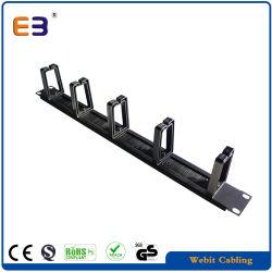 Gerenciamento de cabo metálico de montagem em rack com escova & Anel plástico para o Gabinete da rede de 19''