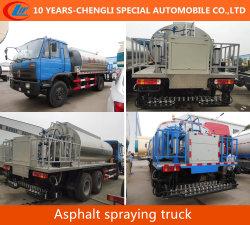 4X2 de l'asphalte de la pulvérisation de bitume chauffé de l'asphalte liquide de camion citerne du camion de transport