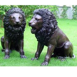 Garten-Dekoration-Löwe-Tierbronzeskulptur