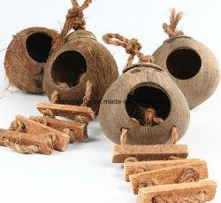 環境に優しいココナッツ木製の鳥のネストのココナッツ木製ペット家