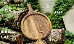 Cassetto di bambù del servizio del cassetto del piatto del piatto del disco di legno naturale di Mut