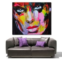 Handgemaltes Modern Figure Palette Knife Wall Art Decor Abstract Portrait Pop Ölgemälde auf Canvas