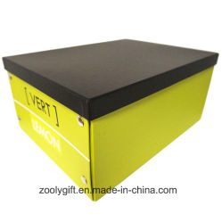 Casella di memoria pieghevole di marchio del cartone su ordinazione multiuso della carta da stampa con il tasto del metallo