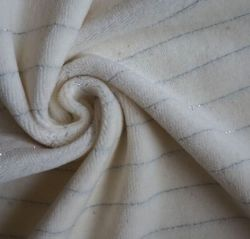 El 90%10%algodón tejido de terciopelo de grapas de plata