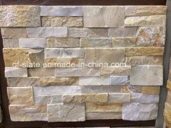 Qualitäts-Gelb-Beige Schiefer kultivierter Stein für Gebäude