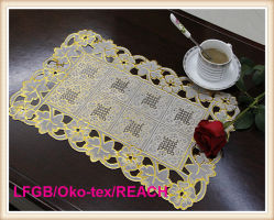 PVC Lace Placemat Coated Gold & Silver 또는 Crochet Doilies