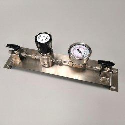 Sistema di riduzione della pressione della valvola per la riga del tubo di trasferimento del gas dell'azoto