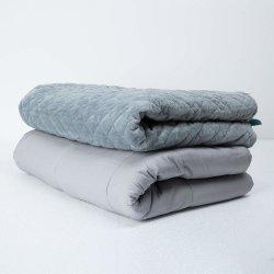 Гладкой хлопчатобумажной ткани 25lb Weighted сенсорных одеяло с крышкой