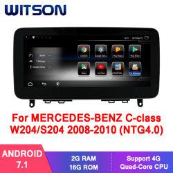 벤즈 C 종류 W204/S204 2008-2010년 (NTG4.0) 2g 16g GPS 다중 매체를 위한 Witson 인조 인간 7.1 차 오디오 시스템