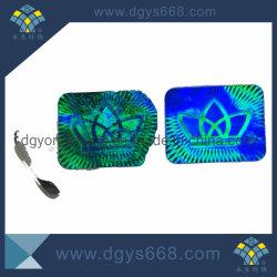 1つの時間の使用透過青いカラーホログラムレーザーのホログラムのラベルのステッカー